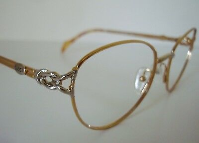 VTG GUCCI GG 2604 Gold/Silver Eyeglasses/Sunglasses Frame 54-18 Ladies Med.ITALY