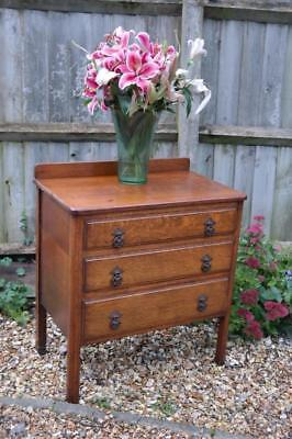 Vintage Art Deco Chest Of Drawers SOLID OAK Superb Quality 1930's Rustic Chic