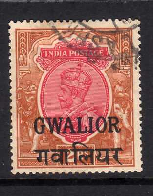 India Gwalior Kgv 2R 1928 Issue  Fine Used