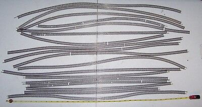"""N Scale 15+ Pieces of 20"""" to 30"""" Flex Track Lot P17-270"""