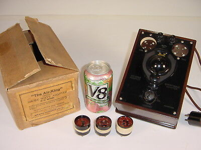 Vintage NOS 1920's Air-King Shortwave 199 01A Tube Radio Adapter + Plug-In Coils