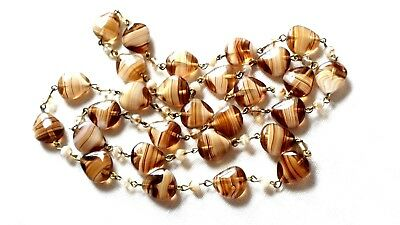 Vintage Wired Murano Glass Bead Necklace