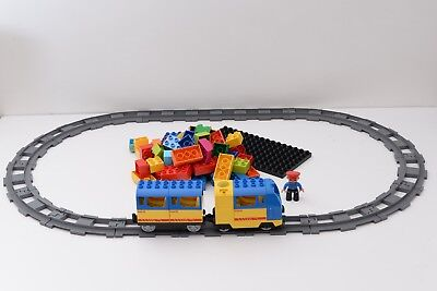 LEGO DUPLO Train Set Battery powered engine with sounds, track, brick and figure