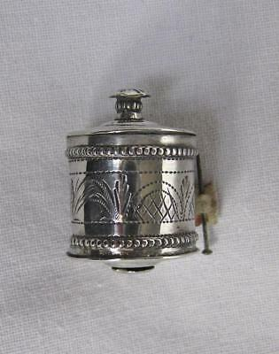 Antique Silver Bright Cut Tape Measure