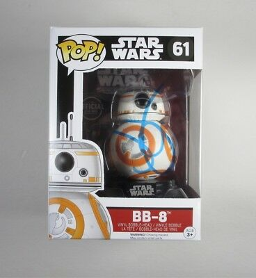 JJ Abrams BB-8 Star Wars Force Awakens Funko Pop Doll Signed Autographed COA