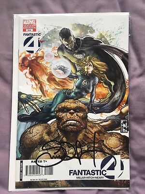 Fantastic Four issue 554 variant SIGNED (Mark Millar/Bryan Hitch)