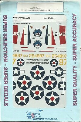 Microscale Superscale Decals 48-262 SBD Dauntless decals in 1:48 Scale