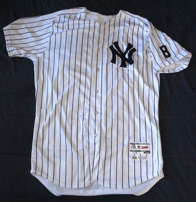 Jacoby Ellsbury 2016 Game Used Worn Ny Yankee Home Jersey #8 Patch Steiner Loa