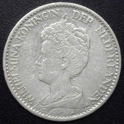 Netherlands 1913 Silver Gulden  Km#148, Y#42   Choice Almost Uncirculated