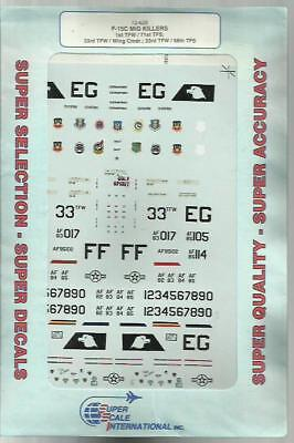 Microscale Superscale 72-629 F-15C Eagle Mig-killers decals in 1:72 Scale