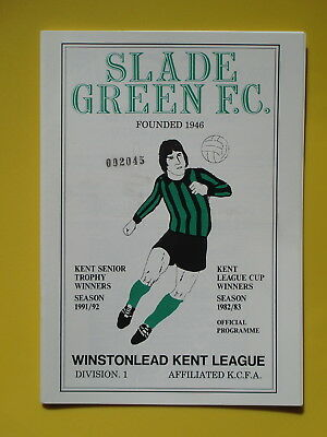 SLADE GREEN v MILLWALL 92/93