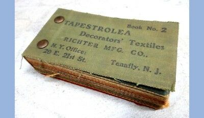 1901 antique TAPESTROLEA DECORATORS TEXTILES FABRIC SAMPLE BK richter,tenafly nj