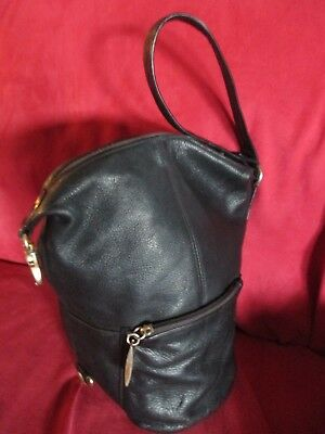 Beautiful GENUINE TIGNANELLO Black Leather BACKPACK / PURSE / HANDBAG - Used