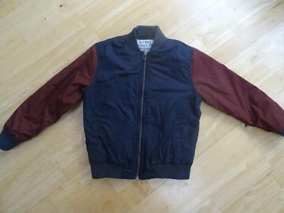 NEXT boys navy brown light padded bomber jacket coat AGE 6 YEARS