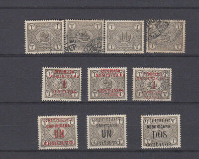 A very nice old Dominican Republic Postage Dues group