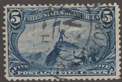 USA Scott #  288  5¢ Freemont on Rocky Mountains  used  ( 288-2)