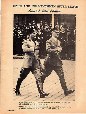 Hitler and his Henchmen after Death 16 page booklet of AP photos of Criminals