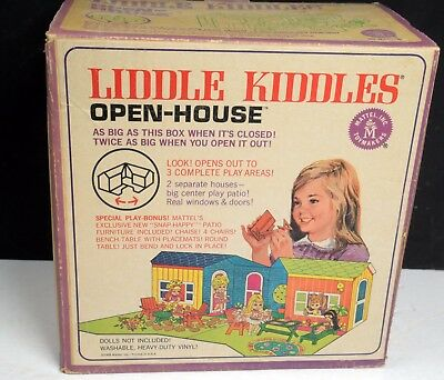 Kiddles Doll-Open House Playset-Mint Boxed-Mattel-1967-RCKD