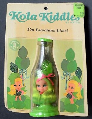 Kiddles Doll-Kola Kiddles-Luscious Lime-Mint Carded-Mattel-1967-RCKD