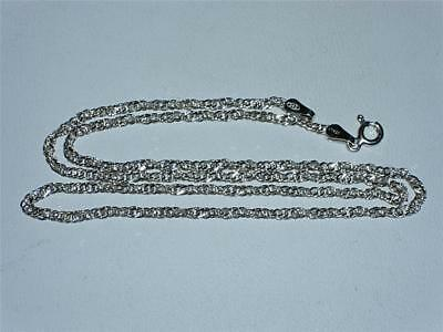 "NEW ITALIAN STERLING SILVER TWIST LINK 18"" long NECKLACE, CHAIN - 3.2g!"