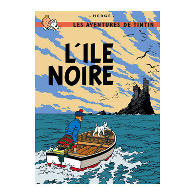 Tintin & The Black Island Cover Large Poster New L'ile Noire