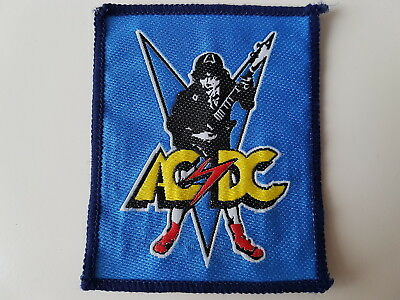 Acdc Original Vintage Woven Patch Angus Young Heavy Metal Rock Ac/dc