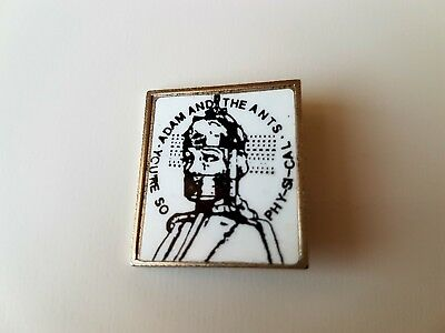 Adam And The Ants Vintage Metal Badge Punk Rock Goth New Wave Adam Ant