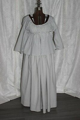 Short gown, Buckskinning Costume 16-17th century,Colonial 100% Cotton Fits SM-LG