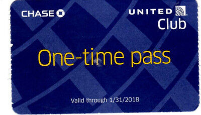 ONE  United club pass Exp 01/31/2018 ~ e-delivery available !
