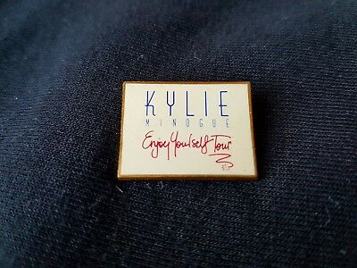 Kylie Minogue Original 1990 Enjoy Yourself Tour Enamel Badge Synthpop Dance Pop