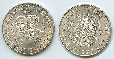 G0325 - Mexiko 10 Peso 1960 M° KM#476 War of Independence Silber Mexico