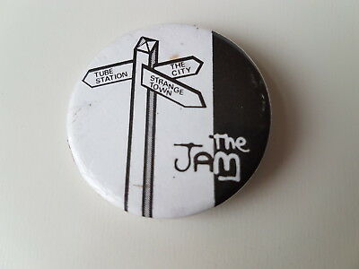 The Jam Vintage Button Badge Paul Weller Mod Mods Punk Rock New Wave