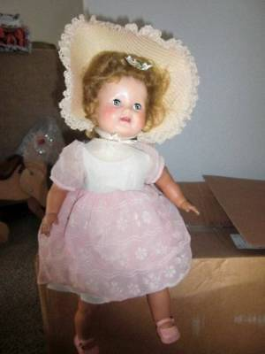 """American Char Doll ~ Vintage Rare Vinyl 1950's Doll 18"""" with Sleep Eyes - Who Is"""