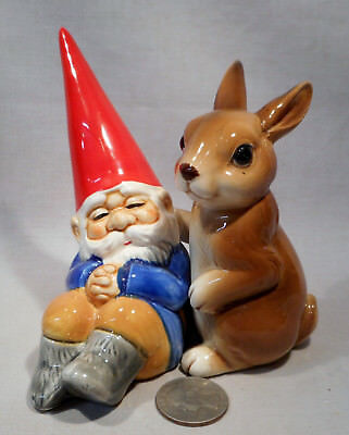 Vintage David The Gnome & a Rabbit S&P Shakers