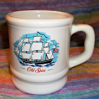 Vintage Old Spice Shaving Mug/Cup Advertising Sailing Nautical Theme Collectible