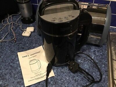 Cook'S Essentials Soup Maker In Black Fantastic Condition Used Once