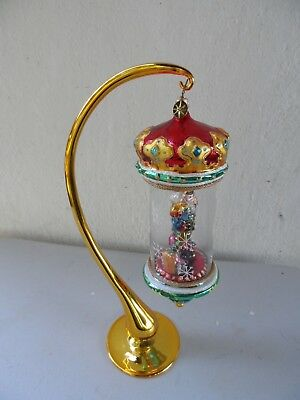 Christopher Radko Christmas ornament with gold stand TOY SOLDIER