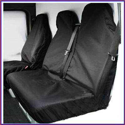 Ford Transit Custom 2015 Heavy Duty Black Waterproof Van Seat Covers 2+1