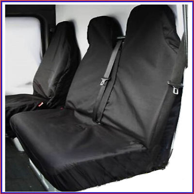 Peugeot Expert Hdi Heavy Duty Black Waterproof Van Seat Covers 2+1
