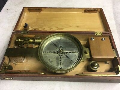 Antique Messer London Surveying Compass