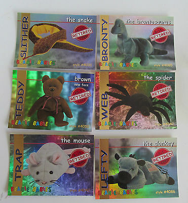 Ty Beanie Baby Rare Set of 14 Red Collector Cards Gift 1998 Ty Club