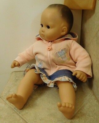 Pleasant Co. American Girl Doll Bitty Baby Brown Hair & Eyes / Ag Bb 3-Pc Outfit