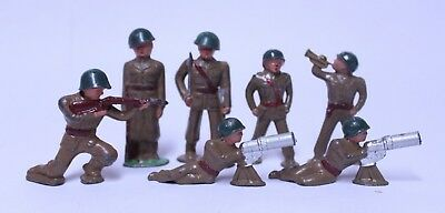 Nice Lot Of 7 Vintage Barclay Manoil Lead Solider Military Figures