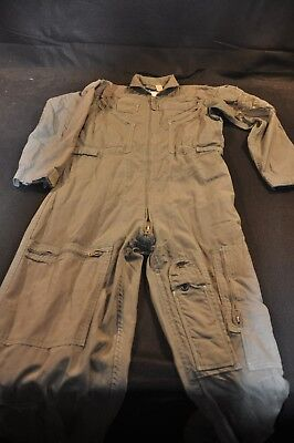 Coveralls Flyer's Summer Fire Resistant 38R Flight Suit CWU-27/P Sage Green A75