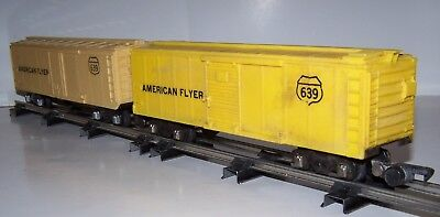 S Scale American Flyer 2 Boxcars #639 Lot S17-33