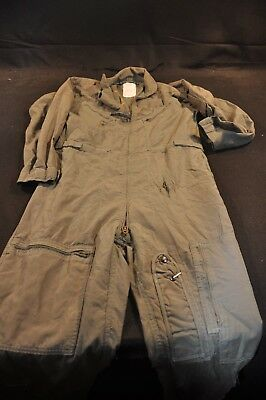 Coveralls Flyer's Summer Fire Resistant 40R Flight Suit CWU-27/P Sage Green A82