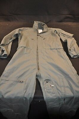 Coveralls Flyer's Summer Fire Resistant 40R Flight Suit CWU-27/P Sage Green A86