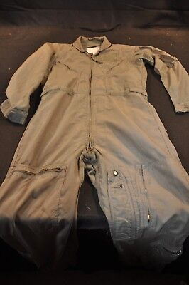 Coveralls Flyer's Summer Fire Resistant 38R Flight Suit CWU-27/P Sage Green A90