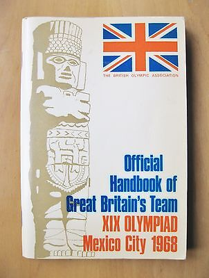 1968 Mexico Olympics Official Handbook For Team GB Great Britain Competitors