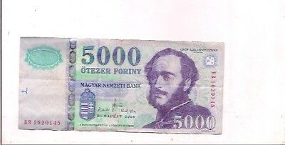 HUNGARY banknote-5000 forint-2008.